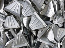 Steel pressings awaiting recycling abstract background stock photography