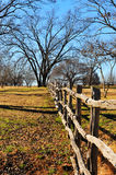 Range Fence. Line in Texas Royalty Free Stock Photos