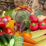 Range of fresh vegetables. Stock Photo