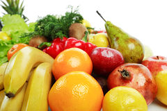 Range of fruits. Fresh Vegetables, Fruits and other foodstuffs. Shot in a studio Stock Photo