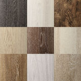 The range of group outdoor laminate wood texture closeup background square Royalty Free Stock Photography