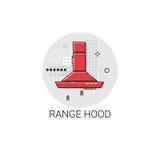 Range Hood Cooking Utensils Kitchen Equipment Appliances Icon. Vector Illustration Royalty Free Stock Photos