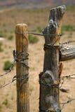 Range land fence. Wooden brown range land fence Royalty Free Stock Image