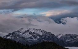 Range Makera in twilight. Caucasus mountains. Stock Photos