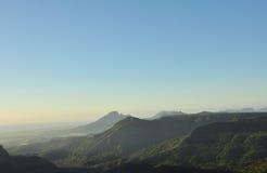 Range of Mountains. In Mauritius Royalty Free Stock Image