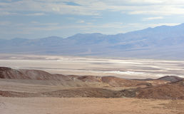Range of Mountains and Plateau in Death Valley National Park in Royalty Free Stock Photography