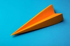 Оrange origami paper Stock Photo
