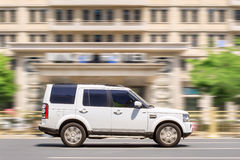 Range Rover Discovery on the road, Beijing, China Royalty Free Stock Photos