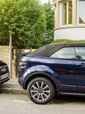 Range Rover Evique SUV parked on the street Stock Photography