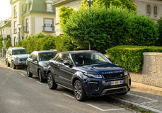 Range Rover Evique SUV parked on the street Stock Images