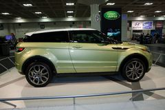 Range Rover Evoque. SAN FRANCISCO - NOVEMBER 21: A Range Rover Evoque is on display during the 2011 International Auto Show at the Moscone Center in San Stock Image