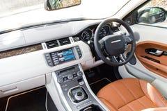 Range Rover Evoque autobiografii 2015 wnętrze Obraz Stock