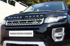 Range Rover Evoque Autobiography 2015 Test Drive Stock Photo