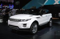 Range Rover Evoque bij de Show van de Motor van Parijs Stock Foto's