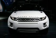 Range Rover Evoque bij de Show van de Motor van Parijs Royalty-vrije Stock Afbeelding