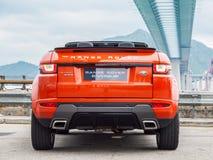 Range Rover Evoque Convertible Drive Day Stock Photography