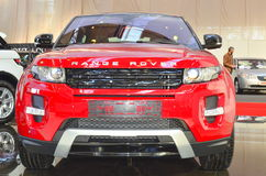 Range Rover Evoque - front view - SIAB 2011. The the brand new Evoque model from Range Rover, here presented at the International Auto Saloon in Bucharest Stock Photo