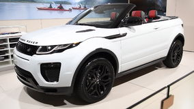 Range Rover Evoque HSE convertible crossover SUV stock video footage
