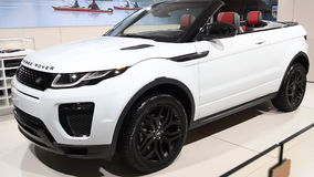 Range Rover Evoque HSE convertible crossover SUV stock footage