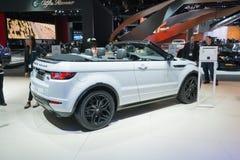 Range Rover Evoque kabriolet SUV Zdjęcia Royalty Free