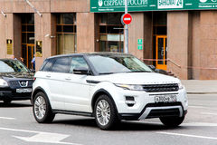 Range Rover Evoque. MOSCOW, RUSSIA - JUNE 2, 2013: Motor car Range Rover Evoque at the city street Royalty Free Stock Images