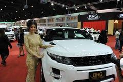 Range Rover Evoque på en motorShow Fotografering för Bildbyråer