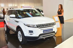 Range Rover Evoque presented at the auto saloon Stock Photo
