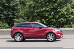 Range Rover Evoque on the road Royalty Free Stock Images