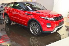 Range Rover Evoque at SIAB 2011. The the brand new Evoque model from Range Rover, here presented at the International Auto Saloon in Bucharest Stock Photos