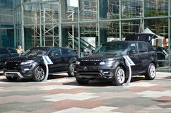 Range Rover exhibition Royalty Free Stock Photography
