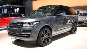 Range Rover L405 luxury-type sport utility vehicle stock video footage