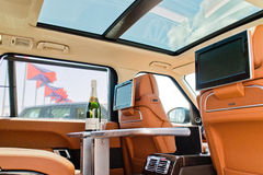 Range Rover Long Wheelbase Autobiography Black 2015 Test Drive Day Royalty Free Stock Images