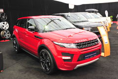 Range Rover cars at auto show Stock Photography