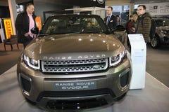 Range Rover på den Belgrade Car Show Fotografering för Bildbyråer