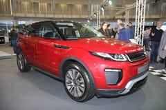 Range Rover på den Belgrade Car Show Royaltyfri Fotografi