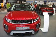 Range Rover på den Belgrade Car Show Royaltyfria Bilder