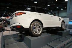 Range Rover pokaz Obrazy Royalty Free