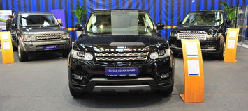 Range Rover presentation stand at SAB 2014 Royalty Free Stock Images