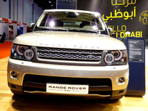Range Rover Sport. ABU DHABI, UAE - DECEMBER 10: Range Rover Sport on display during Abu Dhabi Int'l Motor Show 2010 at Abu Dhabi Int'l Exhibition Centre Royalty Free Stock Photo
