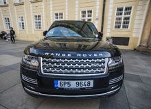 A Range Rover SUV car on street royalty free stock images