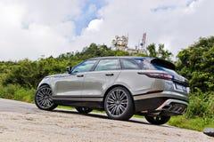 Range Rover 2017 testów Tylnojęzykowy Prowadnikowy dzień Obraz Stock