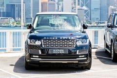 Range Rover 2015 testa Prowadnikowy dzień Zdjęcie Stock