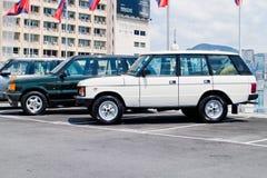 Range Rover 2015 testa Prowadnikowy dzień Zdjęcia Stock
