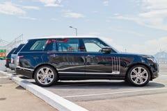 Range Rover 2015 testa Prowadnikowy dzień Obrazy Stock