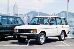 Range Rover 2015 testa Prowadnikowy dzień Fotografia Stock