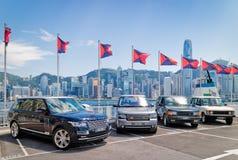 Range Rover 2015 testa Prowadnikowy dzień Obrazy Royalty Free