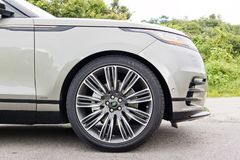 Range Rover Tylnojęzykowy 2017 koło Obrazy Royalty Free