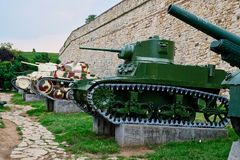Vintage Military Heavy Weapons, Belgrade Military Museum, Serbia Stock Image