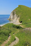 Range walks lulworth, coastal landscape Stock Photos