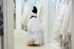 The range of wedding dresses Royalty Free Stock Photos